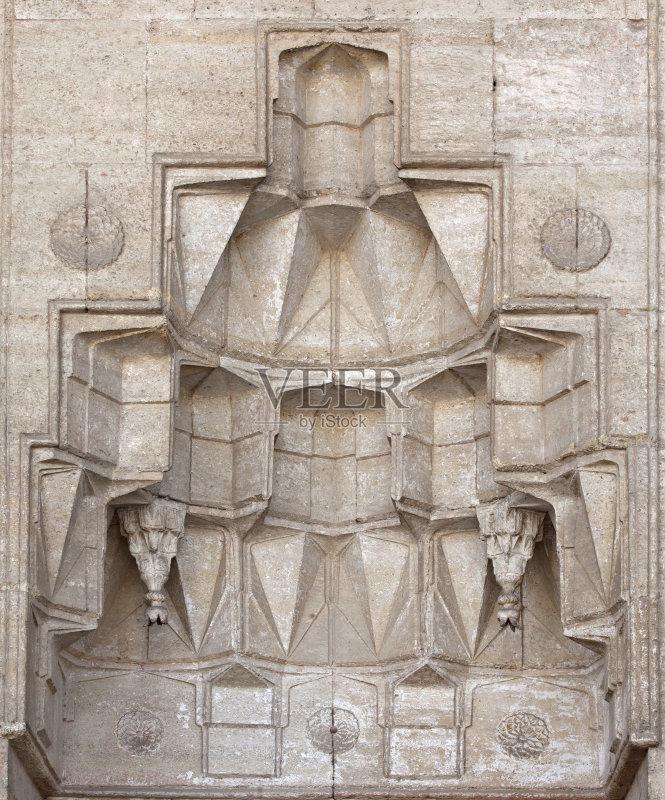 伊斯兰教 墙 浮雕雕刻 世界遗产 奥斯曼帝国 旅游目的地 清真寺 塞利图片