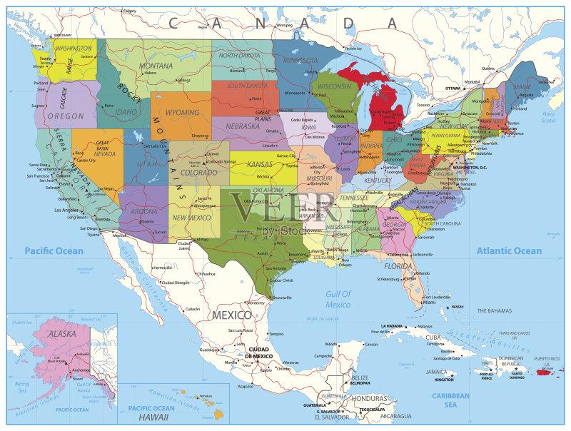 路线-巨大的 乌克兰 堪萨斯 地图 路 路易斯安那州 墨西哥 密歇根 墨西