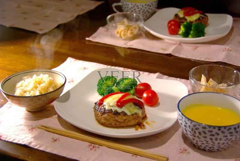 日本 日本料理 健康食物 有机食品 住宅内部 蔬菜 晚餐 膳食 健康生活方