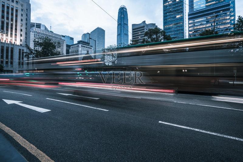 通勤者 现代 街道 旅游 照亮 著名景点 光轨 行动 城市生活图片