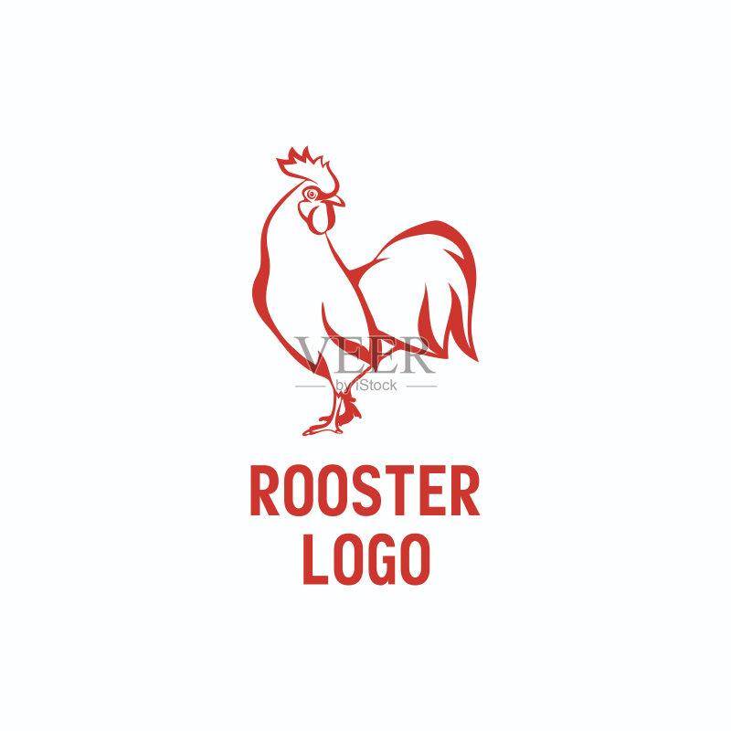 鸡 标记 绘画插图 商业金融和工业 美术工艺 小公鸡 农场 公鸡 标志