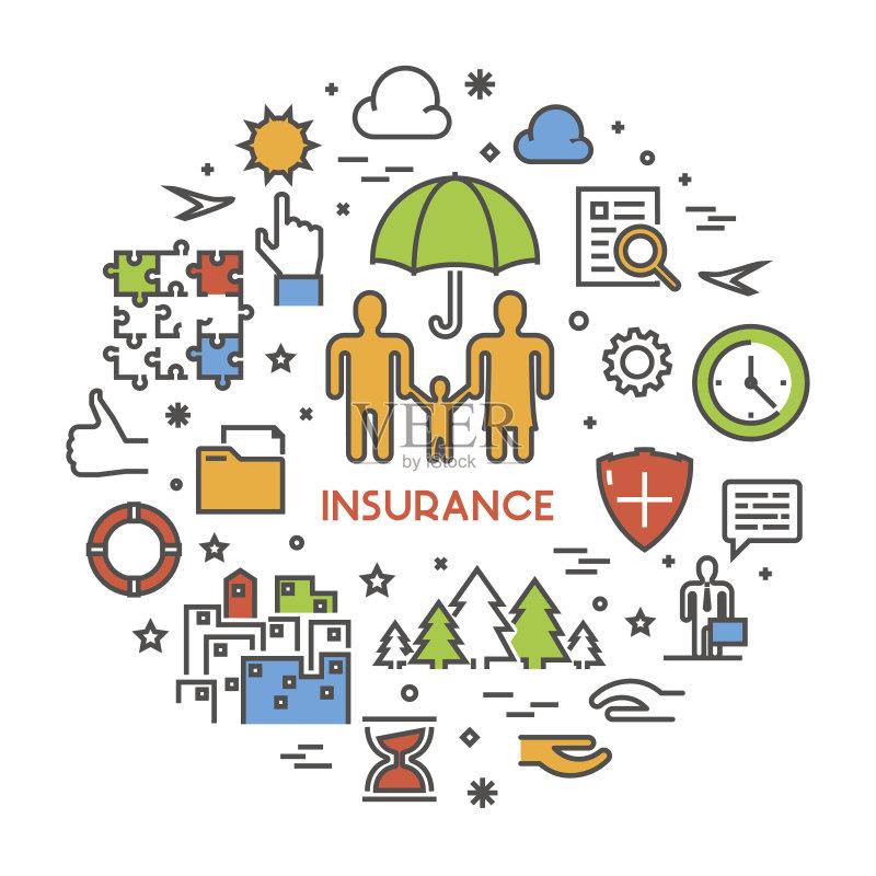线路-人 环境 想法 轮廓 符号 手 金融 人寿保险 保护 背景 意外与灾害