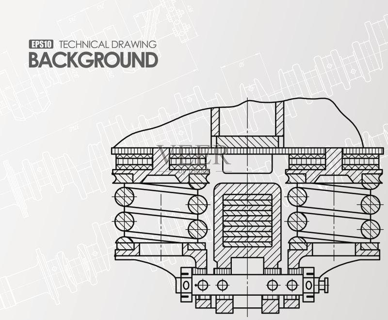 图纸-设计 白色 轮廓 式样 组织 工程 打印单据 白人 画画 工业 背景幕 图片