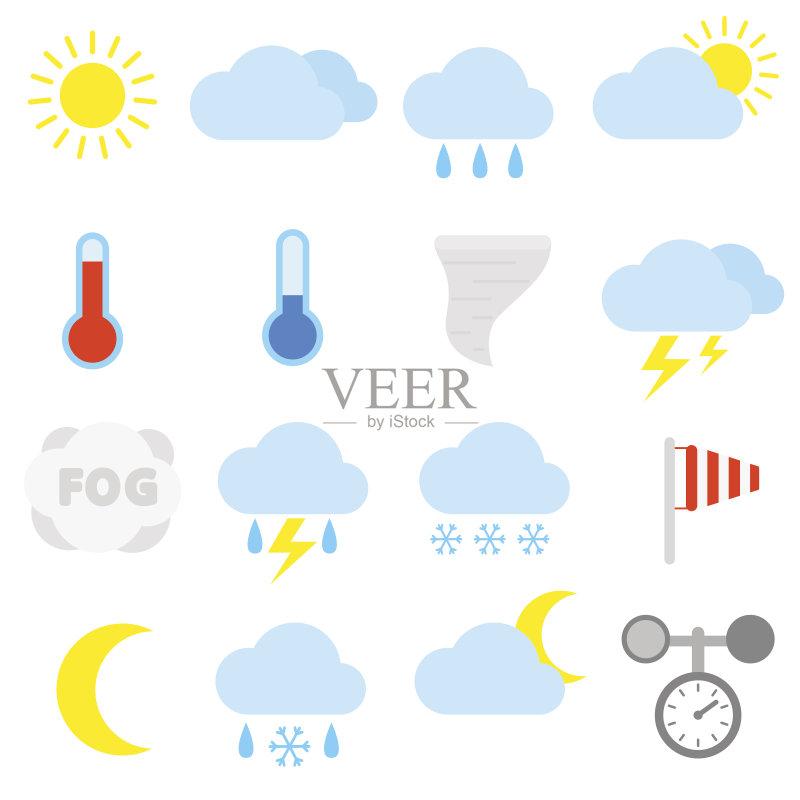 晴朗 风 极端天气 符号 暴风雨 天空 气象学 太阳 龙卷风 云 部分 飓风