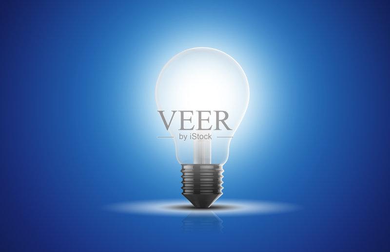 蓝色 无人 创新 协助 灯 解决 创造力 概念