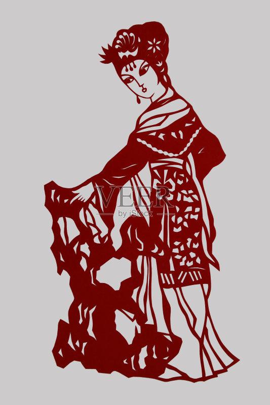 剪纸-文化 欢乐 剪羊毛 许愿 白色 材料 红色 符号 东亚文化 文章 装饰 图片