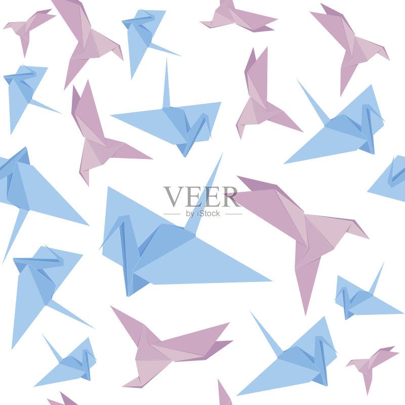 计算机制图 折纸工艺 背景 鸟类 玩具 动物斑纹 机翼 时尚 可爱的 手艺图片