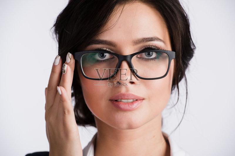 业金融和工业 近视 眼镜 商务 态度 人体 美人 人的脸部 成年人 健康保