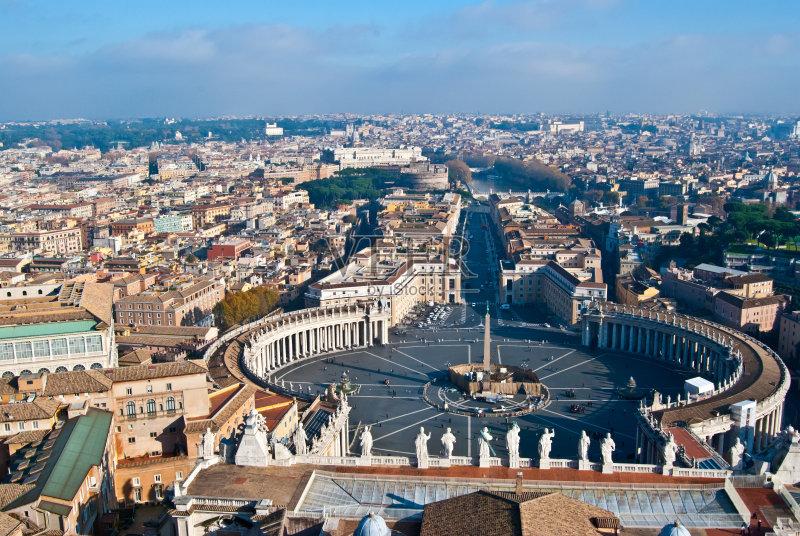 去 都市风景 广场 旅行 欧洲 意大利文化 国际著名景点 圣彼得广场 梵
