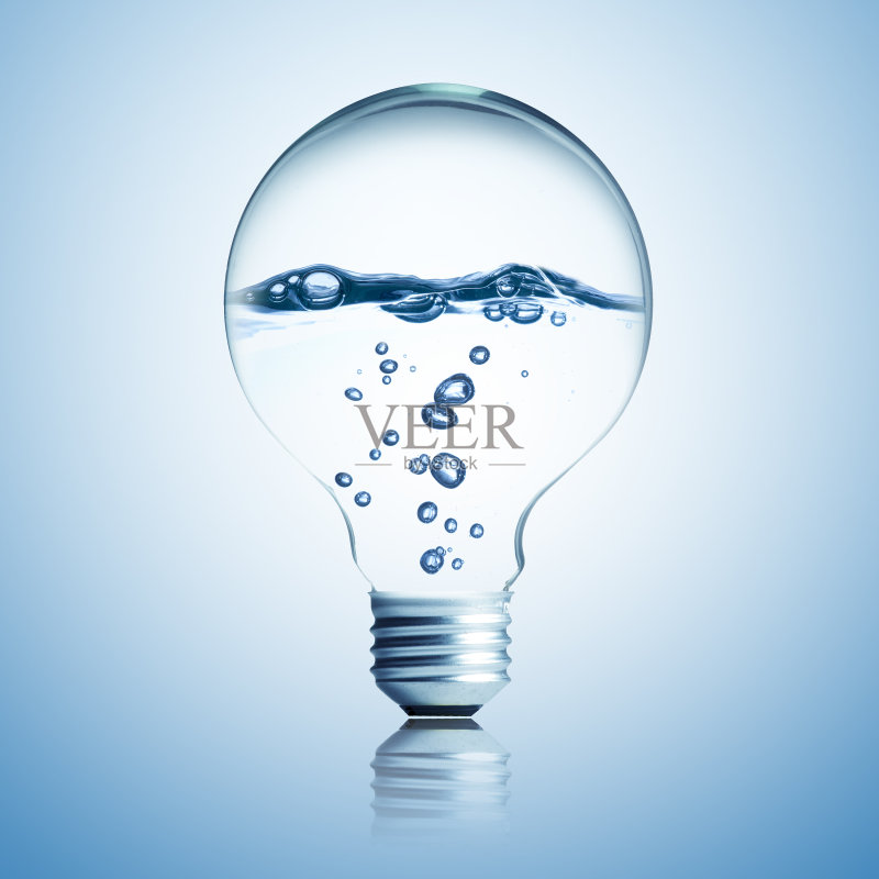 无人 商务 创新 水 透明 灯 闪亮的 解决 创造力 概念