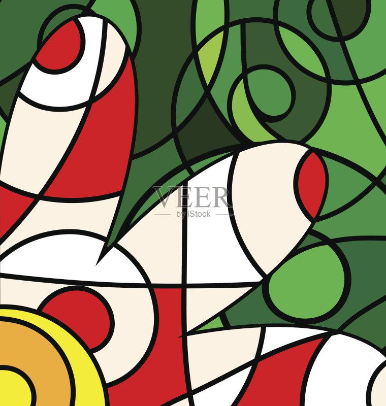 画插图 混合 美术工艺 艺术 无人 2015年 构图 几何形状 矢量 螺线 火