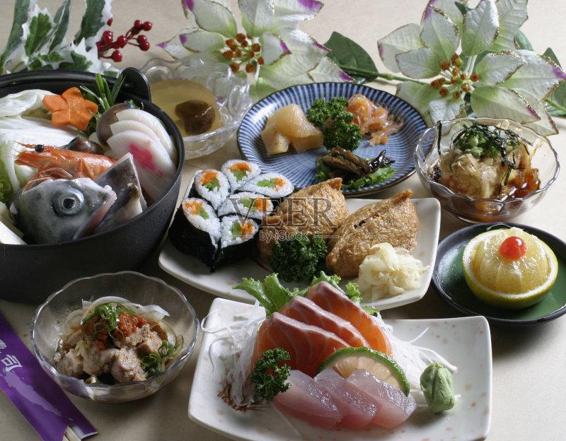 会 日本 日本料理 稻 晚餐 餐盘 吃饭 寿司 生鱼片寿司 东亚文化 无人