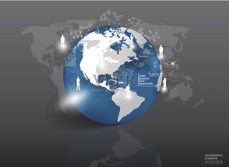 地球-市场营销 信息图表 符号 金融 渴望 装饰 技术 公司企业 商务策略