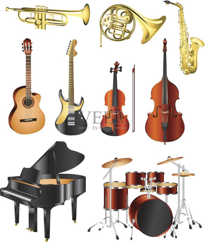 组 音乐 低音乐器 爵士乐 圆号 鼓 乐器 照相写实主义 背景 原音乐 唱