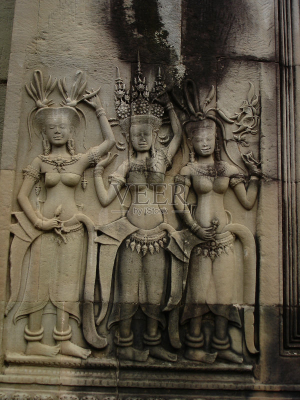 塑 考古学 浅浮雕 吴哥 著名景点 柬埔寨文化 历史 高棉文明 慈善救济 图片