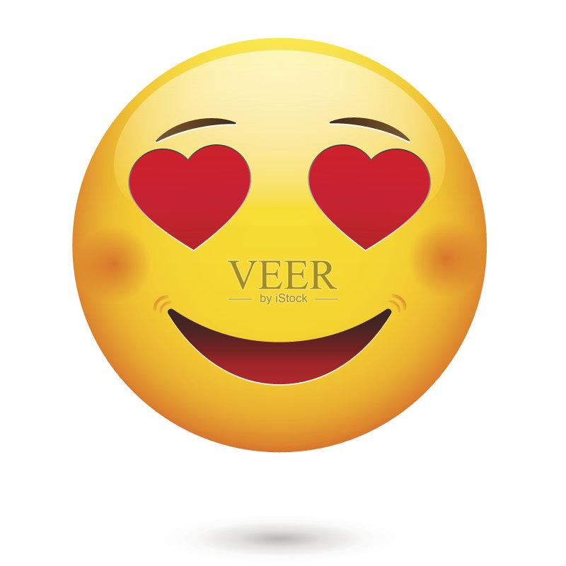 情感 黄色 表情符号 面膜 快乐 爱 人体 矢量 球体 人的脸部 成年人 剪