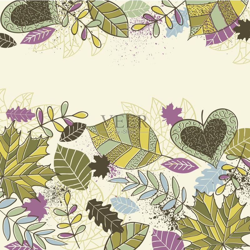 色 绘画插图 美术工艺 装饰物 春天 设计元素 壁纸 艺术 无人 花 乱画