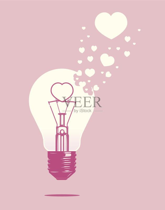 备用品 标志 创新 爱 粉色 矢量 解决 热 创造力 概念