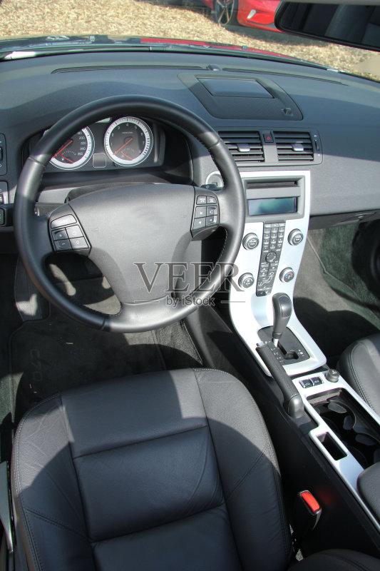 汽车内饰-按钮 无人 皮革 一个物体 变速杆 黑色 新的 银色 车座 数字化图片