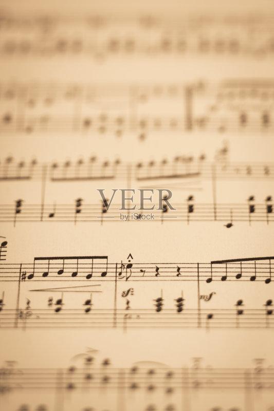 音乐 过去 五线谱 低音谱号 创造力 纸 古董 编码