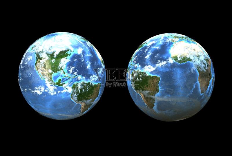 维图形 行星 地球 计算机制图 海洋 球体 天文学 计算机图形学 地球形
