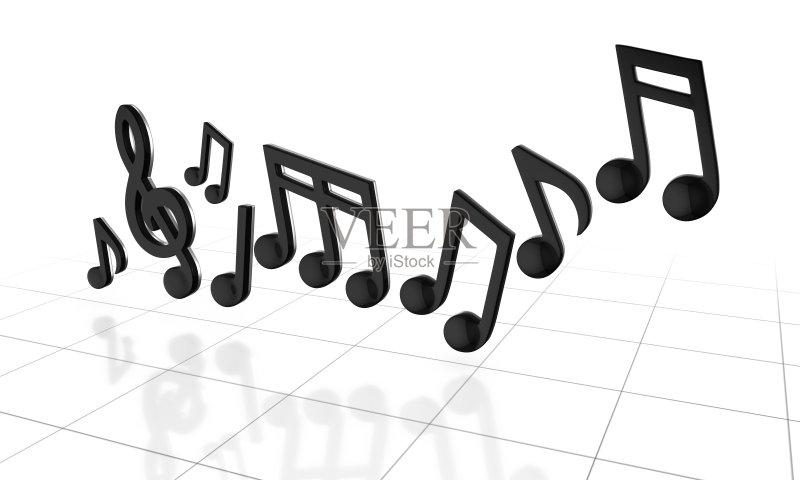 维图形 音乐 高音谱号 艺术文化和娱乐 弯曲 漩涡形 计算机制图 调号