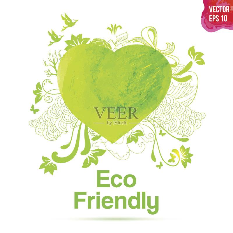 环保- 布告 夏天 环境保护 快乐 作标记 污染 园艺 餐馆 树 健康保健 概念 计