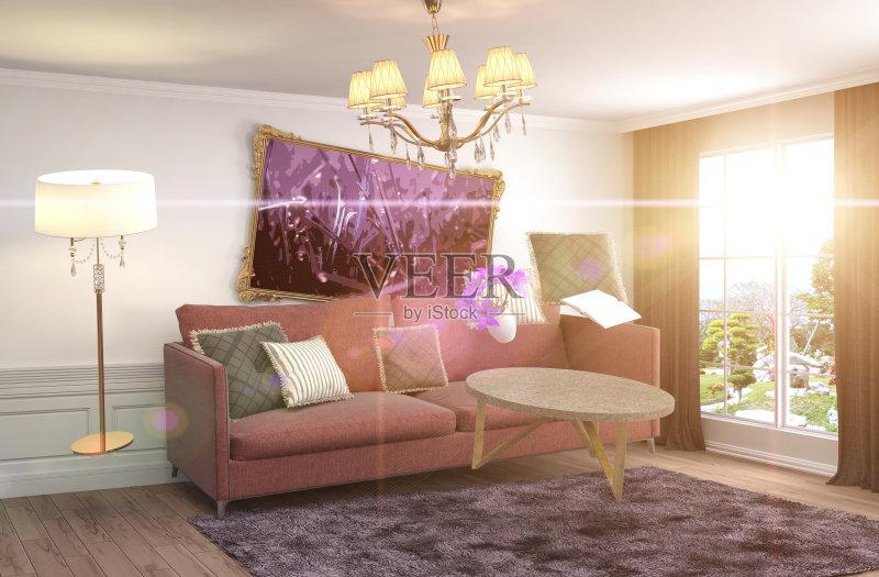 作画 枕头 家具 失重 公寓 海报 装饰 平衡 房屋 计算机制图 沙发 意外