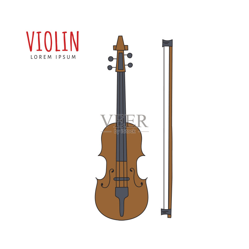 古典管弦乐 弦乐器 管弦乐队 符号 手 表演艺术活动 白色背景 画画 音