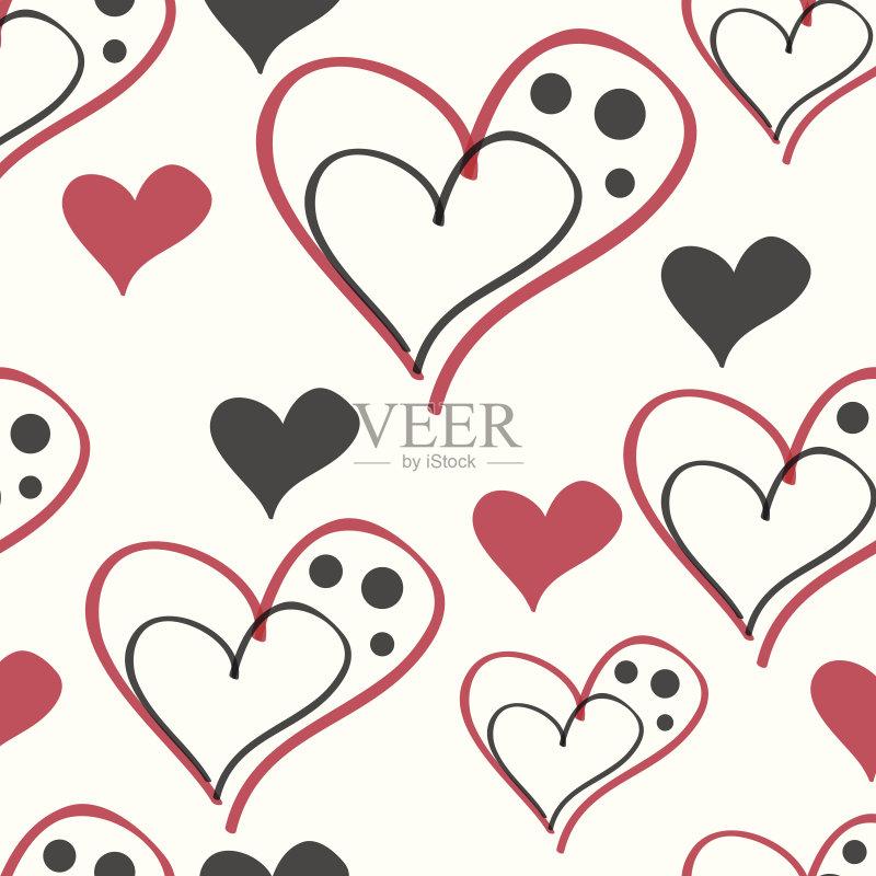 图案-设计 白色 心型 作画 红色 符号 式样 比例 形状 白昼 装饰 华丽的