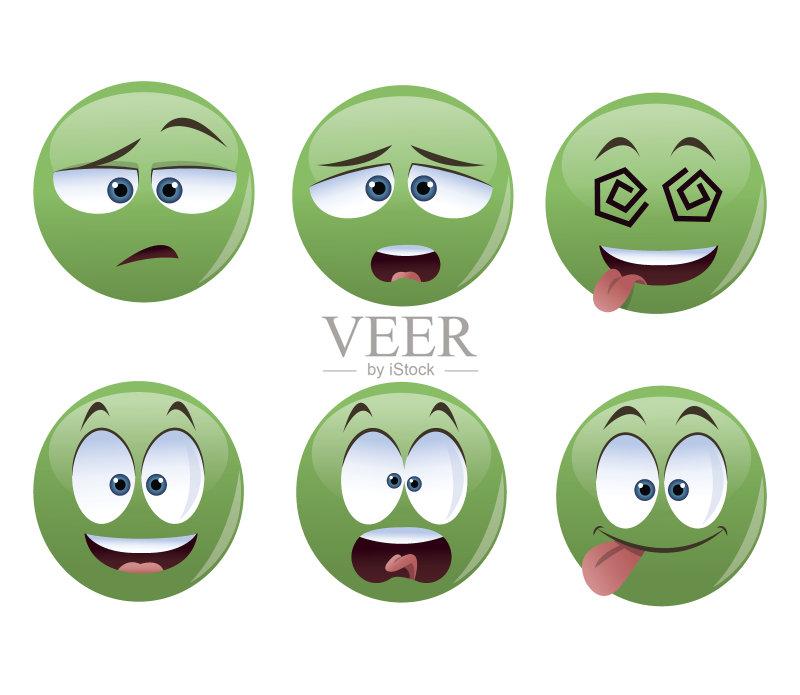 画插图 图标 情绪压力 乐趣 表情符号 快乐 人体 奇异的 矢量 球体 人的