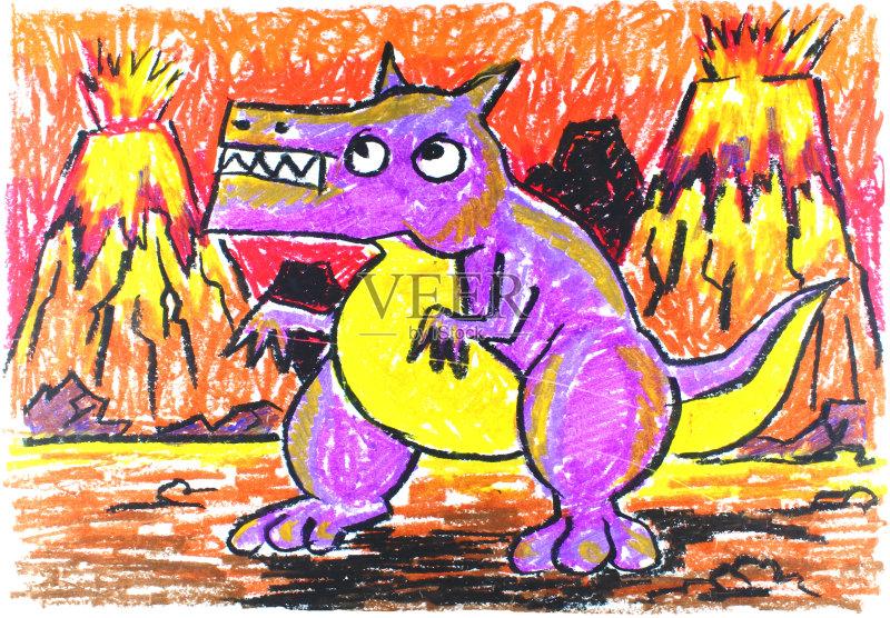 火山 数字 美术工艺 数字7 蓝色 艺术 绘画艺术品 青年人 帆布 人体