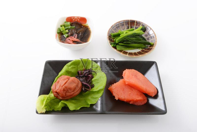 冲绳县 日本料理 鳕鱼 饮食 健康食物 粉丝沙拉 紫苏 蔬菜 早餐 晚餐