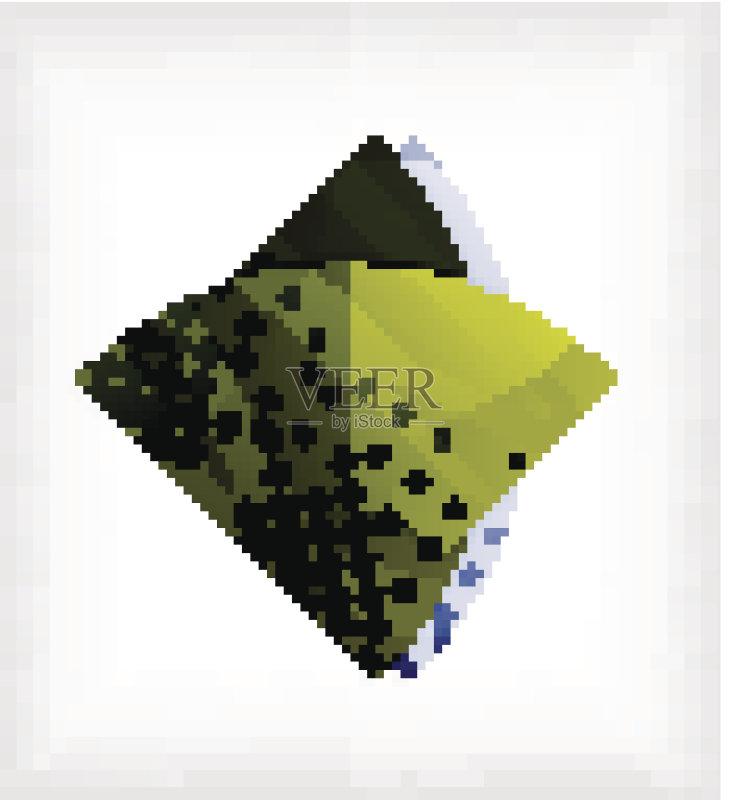 计算机制图 折纸工艺 金属质感 背景 标签 做计划 绘画插图 斑点 做 图片