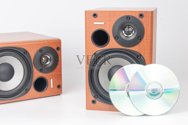 木制 扬声器 白色 膜 技术 噪声 高音谱号 有序 设备用品