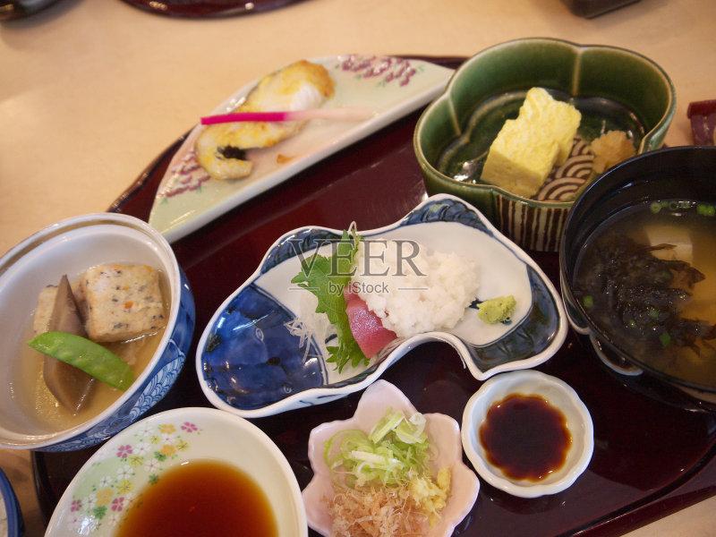 本 酱油 日本料理 多样 味噌汤 早餐 餐盘 膳食 半球形盘 无人 2015年