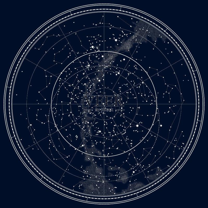 星形 形状 星图 太空 双子座 世界地图 灵性 月亮 金星 几何学 墨水 方向