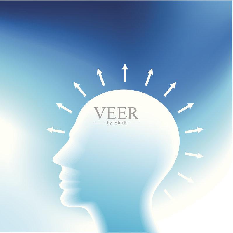 创新-人 想法 人的头部 形状 探索 渴望 知识产权 技术 学习 专心 想象