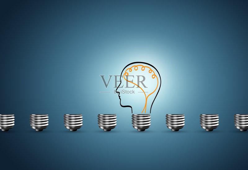 脑部 商务 创新 想法 成功 人体 专门技术