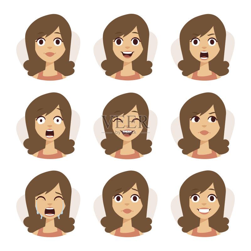 情绪-人 欢乐 女人 肖像 看 雌性动物 白人 合成图像 个性 女性 生活方式