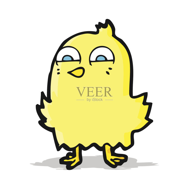 有趣-快乐 可爱的 绘画插图 乱画 奇异的 矢量 剪贴画 鸟类 画画图片