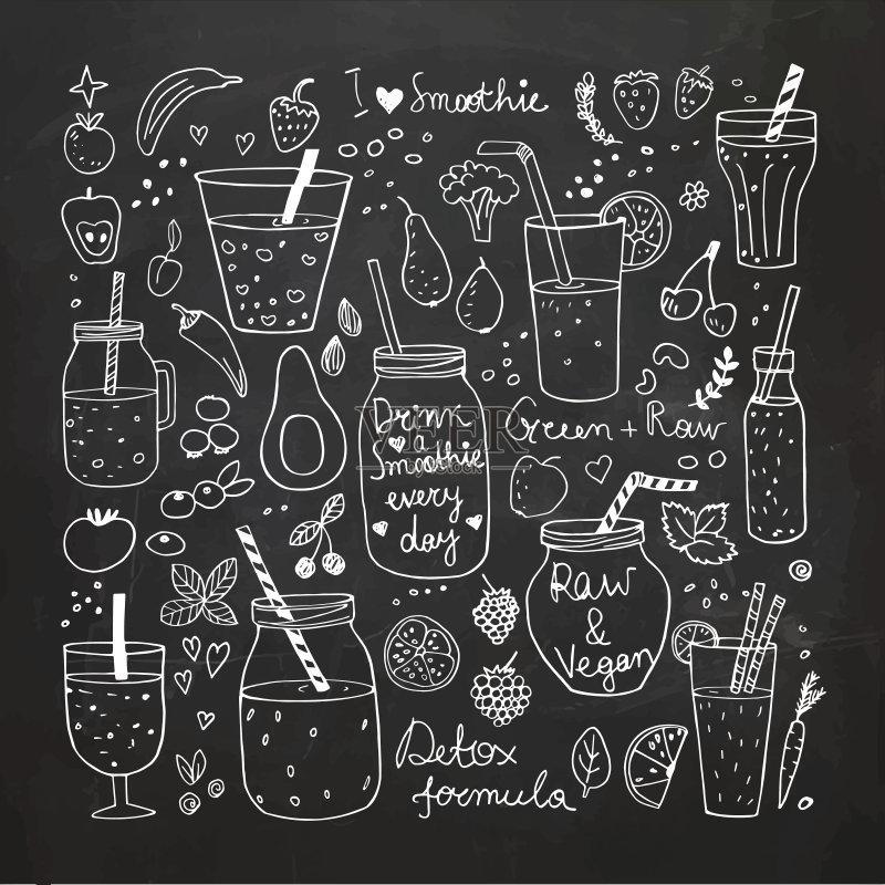 环保的铅笔画-画 社会问题 环境保护 无人 计算机图标 瘦身 粉笔 轮廓 成分 草莓 菜单