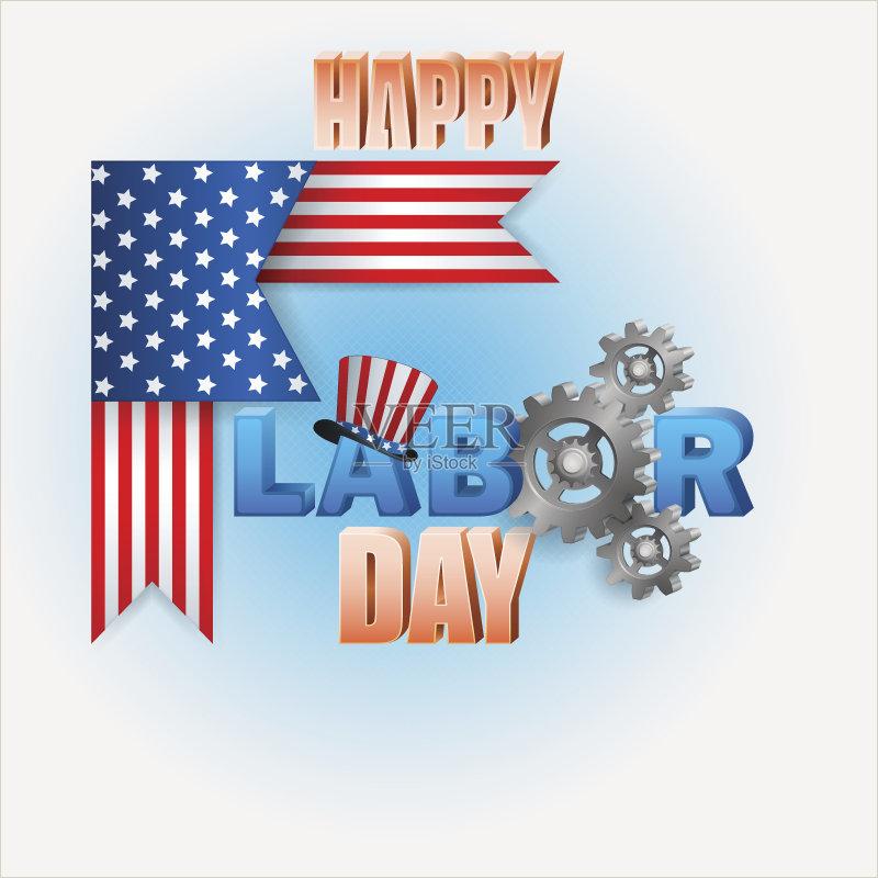 图 多色的 大礼帽 庆祝 剪贴画 机件 背景 美国 旗帜 计算机图形学