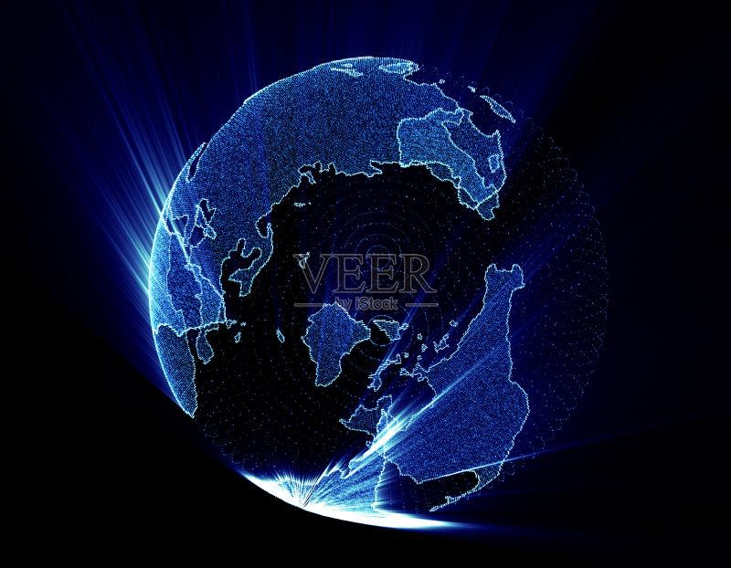 技术 有线的 地球 弯曲 计算机制图 互联网 合作 消息 商业金融和工业