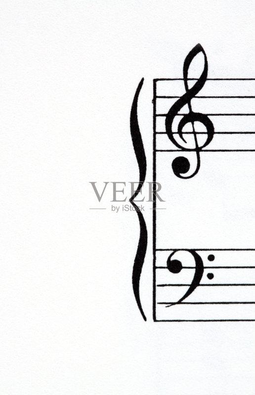 术文化和娱乐 高音谱号 低音谱号