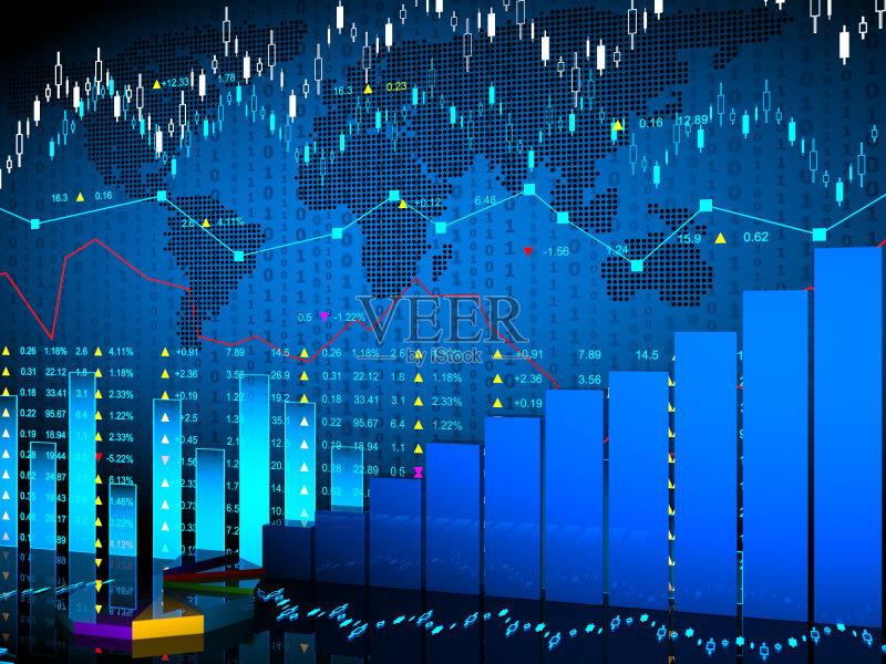 字化显示 财务数据 报告 利率 做计划 商业金融和工业 图 无人 商务 图片