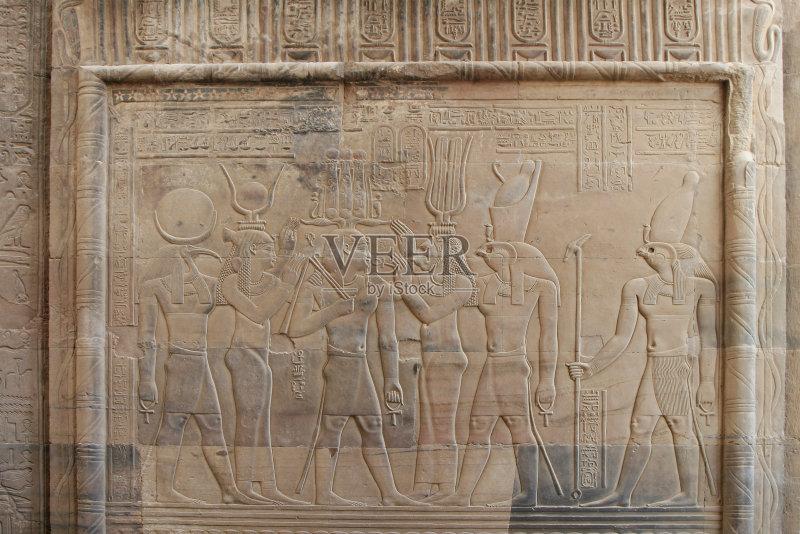 雕塑 石头 浅浮雕 雕刻物 石材 法老 考幕奥伯姆 手艺 古代 象形文字 图片