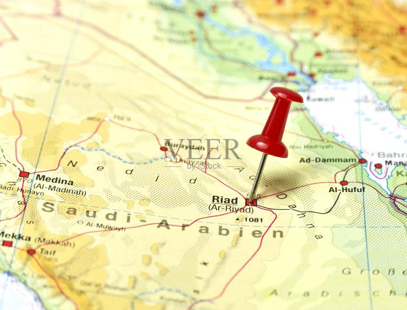 文化 路线图 地图学 红色 波斯湾 珠针 利雅得 世界地图 地图 旅行 焦点