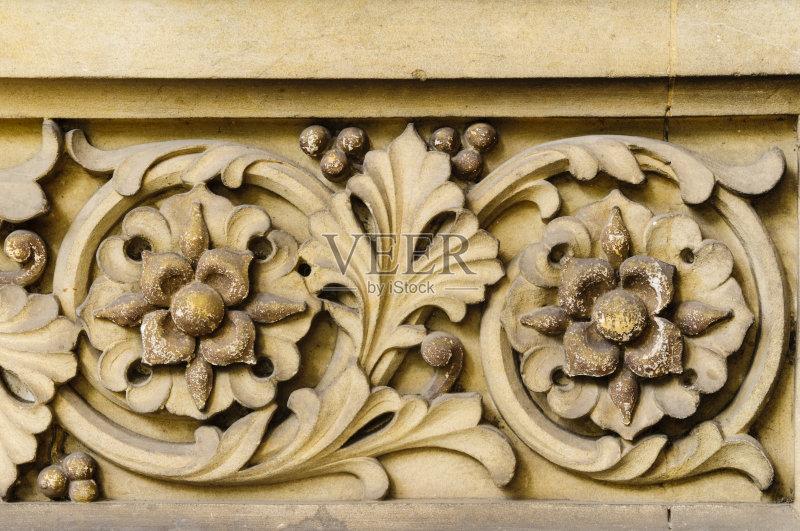 丽的 欧洲 浅浮雕 背景 雕刻物 户外 石材 风化的 手艺 破败 美术工艺 图片