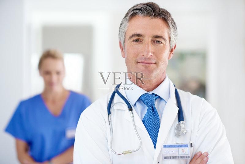健康生活方式 医疗诊所 中老年男人图片